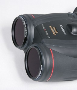 IDAS solar filter on canon binoculars